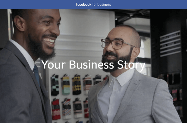 facebook your business story