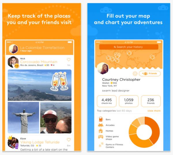 founsquare swarm app lifeblogging feature