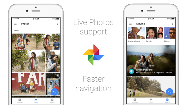 google live photos on ios