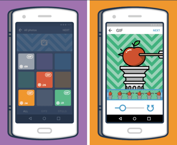tumblr andorid app gif creation