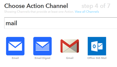 ifttt action channel