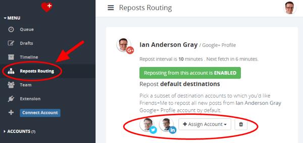 friendsplusme reposts routing