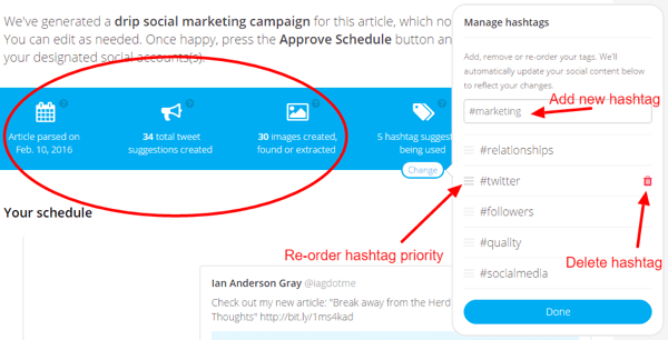 missinglettr manage hashtags