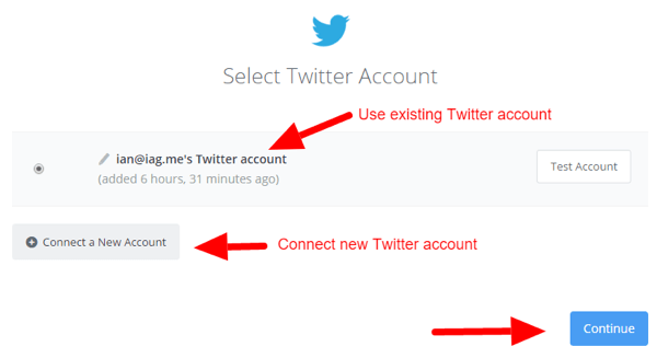 zapier connect twitter