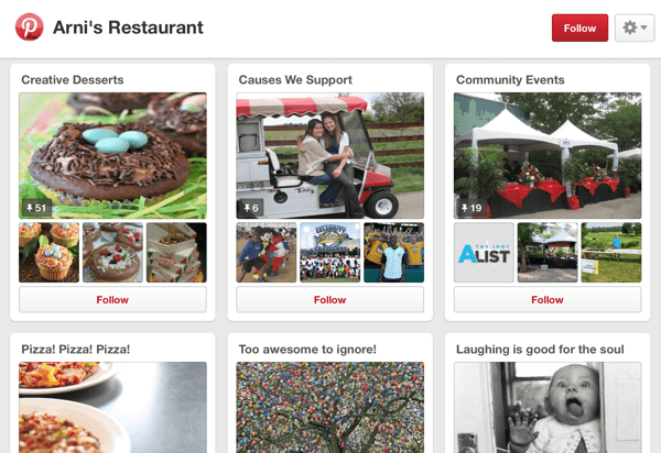 pinterest community event board example