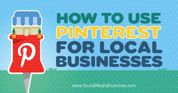 local business marketing on pinterest