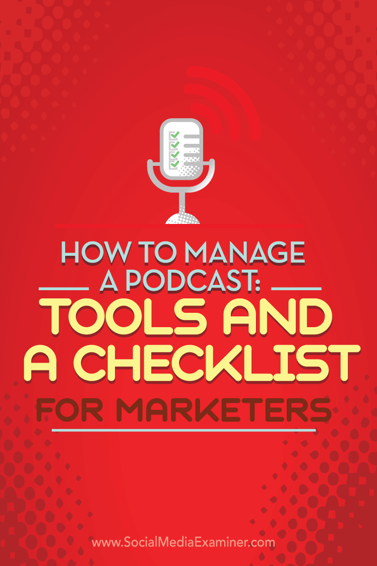 podcast checklist and management tools