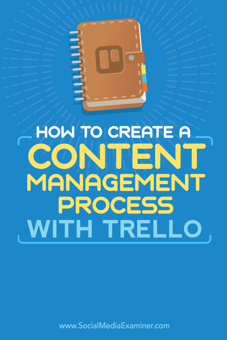 manage content with trello