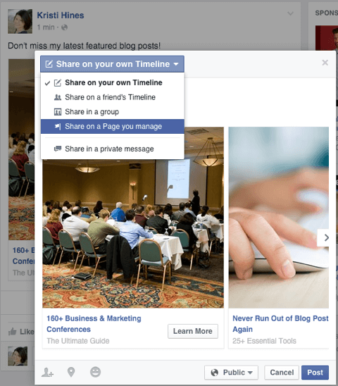 How to Pin Your Facebook Carousel Ad as a Page Post : Social Media