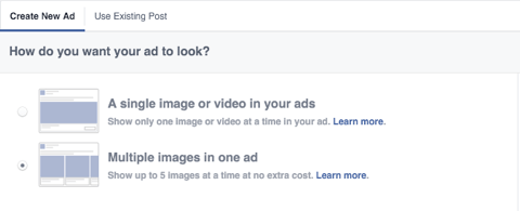 facebook ad image feature