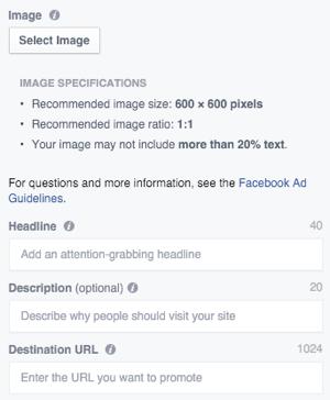 facebook ad image upload