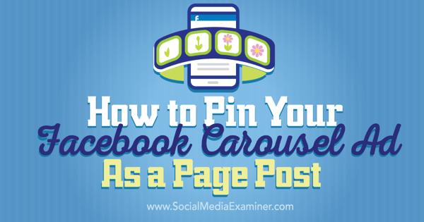 pin a facebook carousel ad