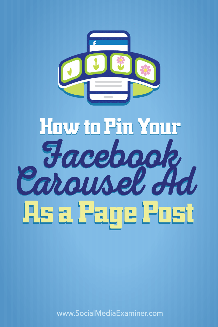 facebook carousel ad page post