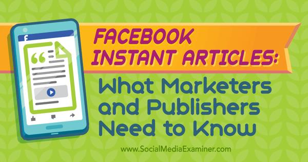 prepare for facebook instant articles