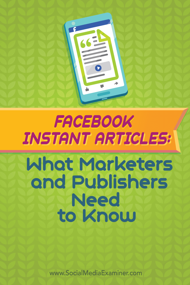 facebook instant articles how to prepare