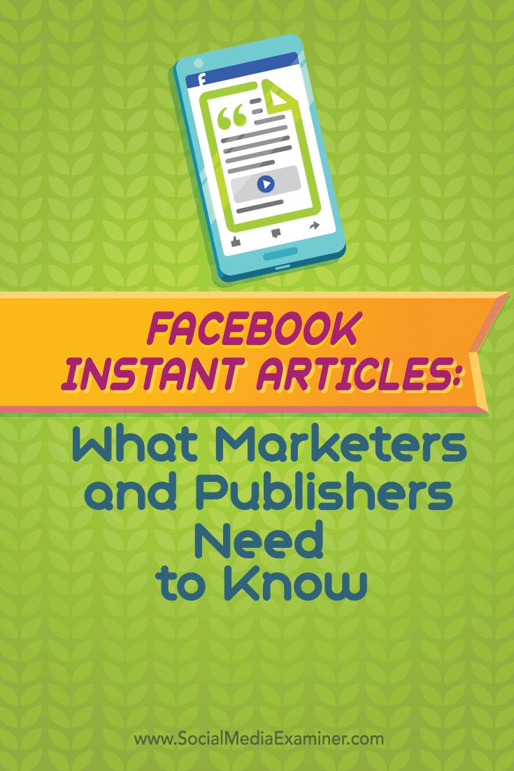 facebook instant articles how to prepare