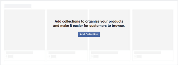 add collection to organize facebook shop products