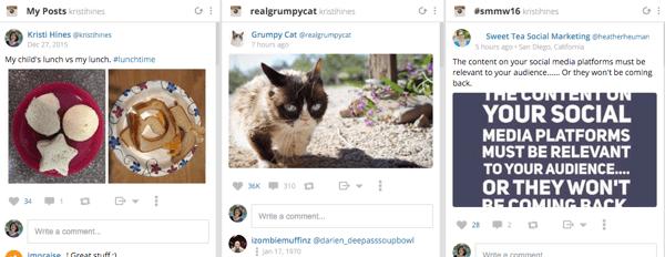 hootsuite instagram stream