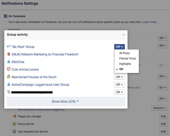 configure group notification settings on desktop