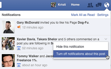 turn off facebook post notifications on desktop