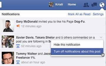 turn off facebook post notifications on desktop