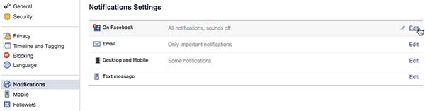 general facebook notification settings on desktop