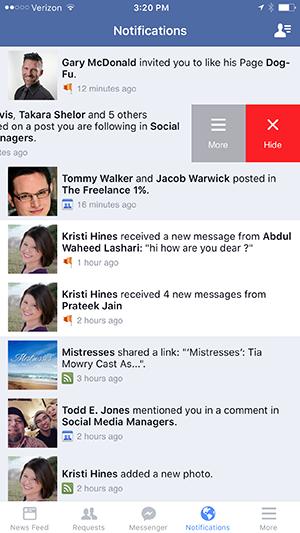 iphone facebook app turn off notifications
