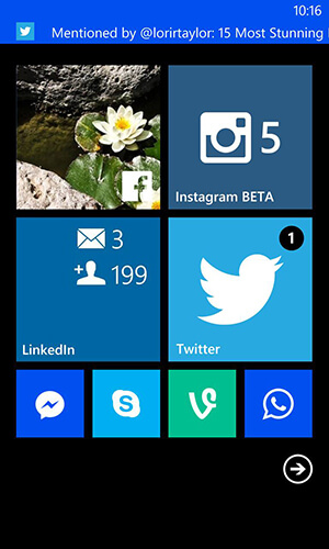 windows phone notification options