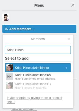 add a member to a board in trello