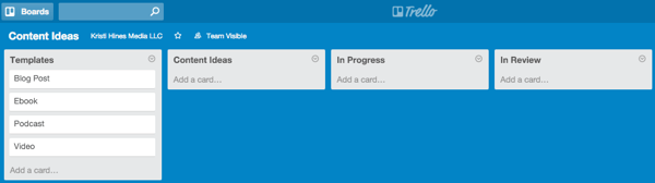how to create a template in trello