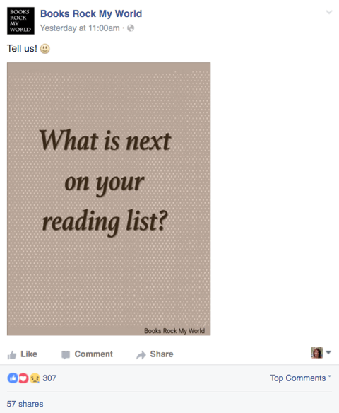 books rock my world facebook post
