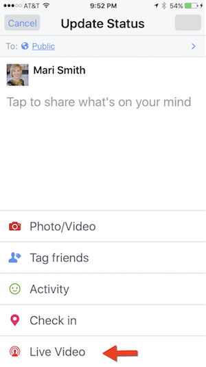 live video facebook app