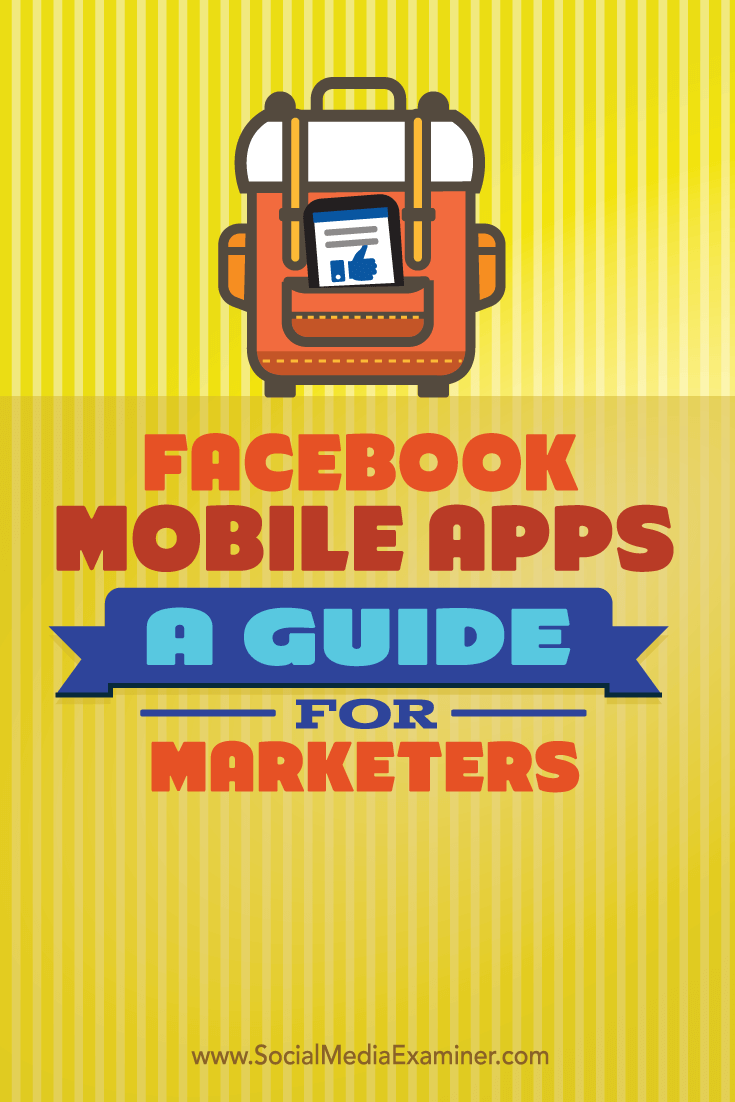manage marketing with facebook mobile apps