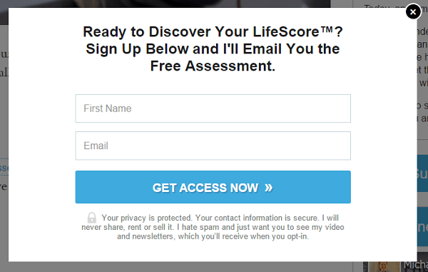 lifescore opt in