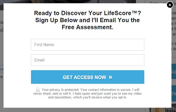 lifescore opt in