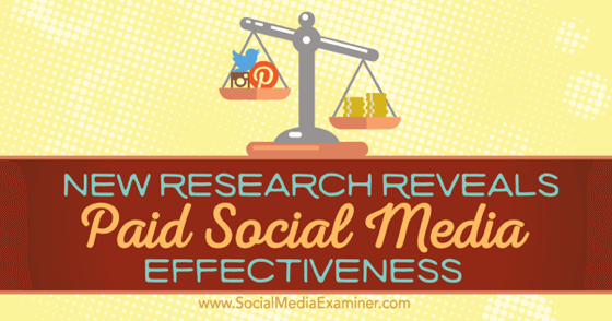 New Research Reveals Paid Social Media Effectiveness