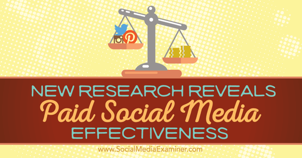 effectiveness of paid social media marketing