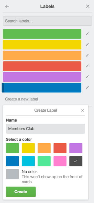 trello labels