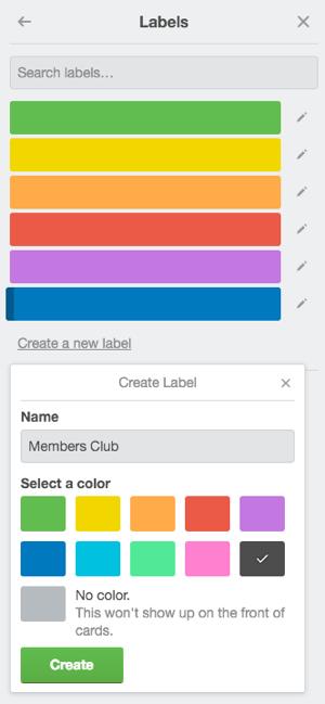 trello labels