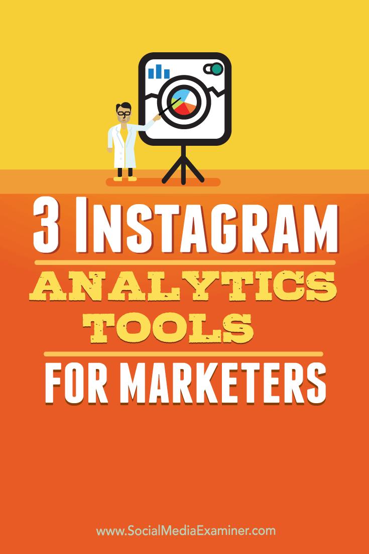 marketer analytics tools for instagram analysis