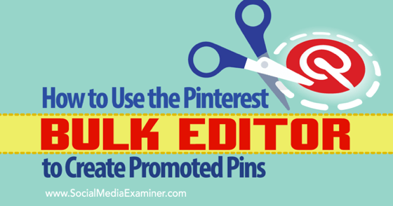 How to Use the Pinterest Bulk Editor to Create Promoted Pins