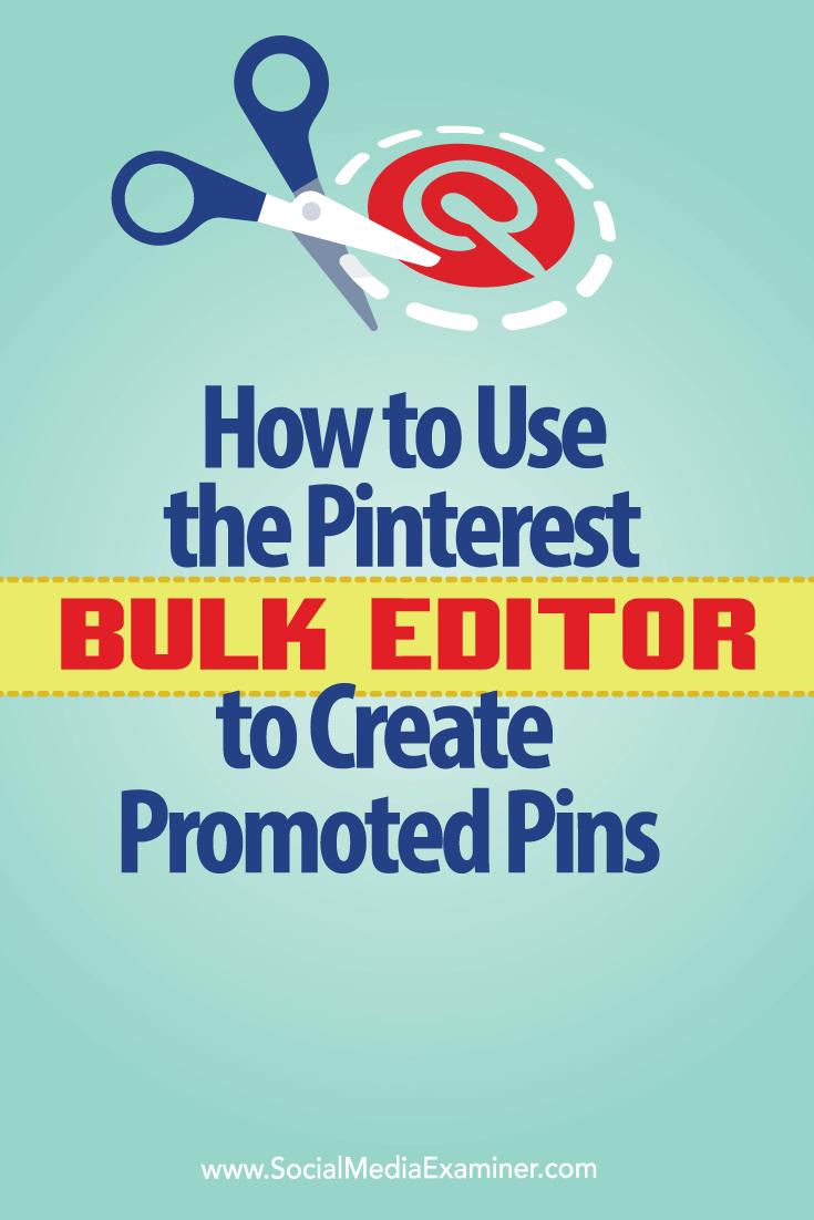 bulk edit promoted pinterest pins