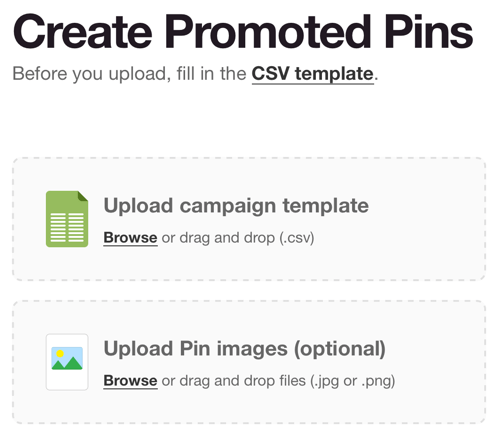 pinterest download csv template
