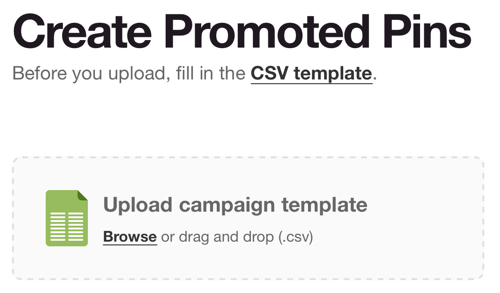 pinterest upload campaign template