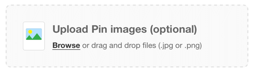 pinterest upload pin images
