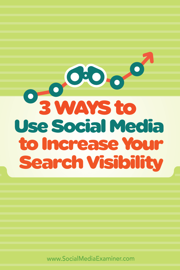 increase search visibility with social media