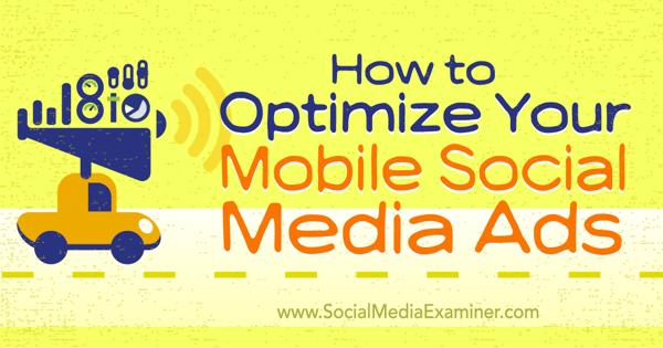 mobile friendly social media ads