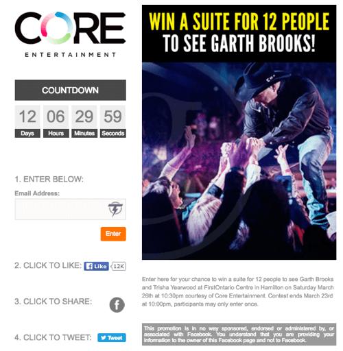 core entertainment social contest
