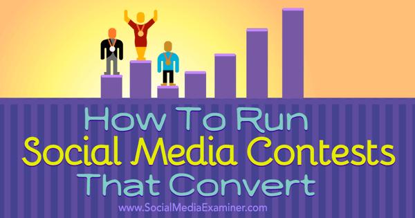 create social media contests