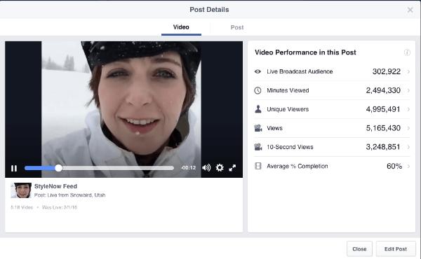 facebook live video metrics